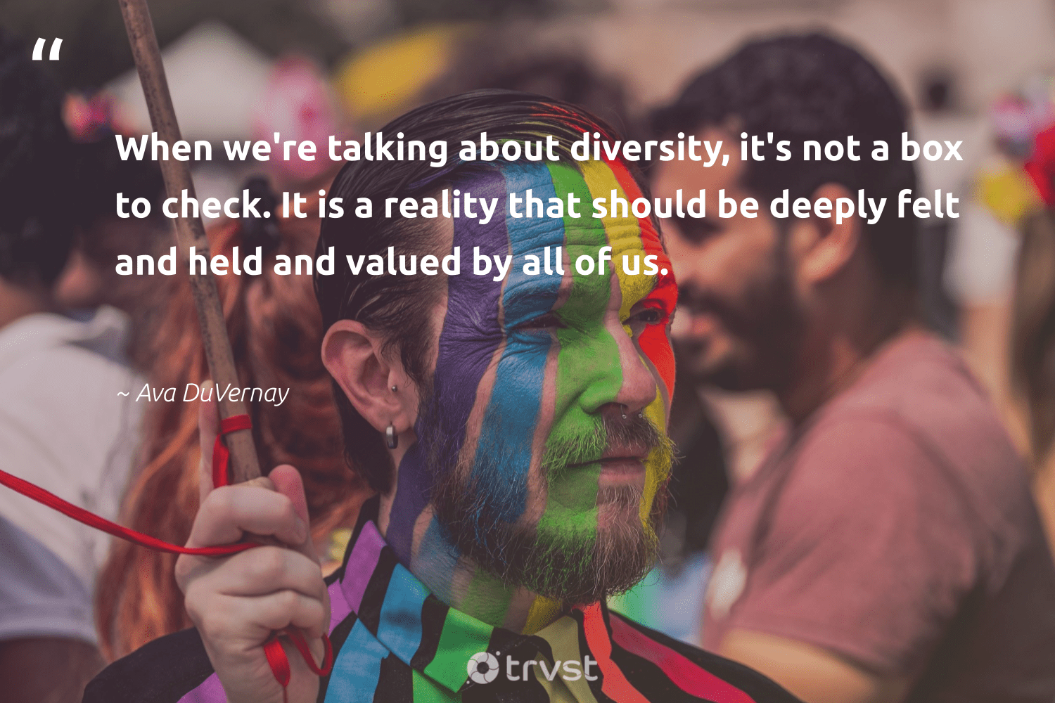 """When we're talking about diversity, it's not a box to check. It is a reality that should be deeply felt and held and valued by all of us.""  - Ava DuVernay #trvst #quotes #diversity #inclusion #representationmatters #bethechange #giveback #ecoconscious #discrimination #makeadifference #socialgood #dotherightthing"