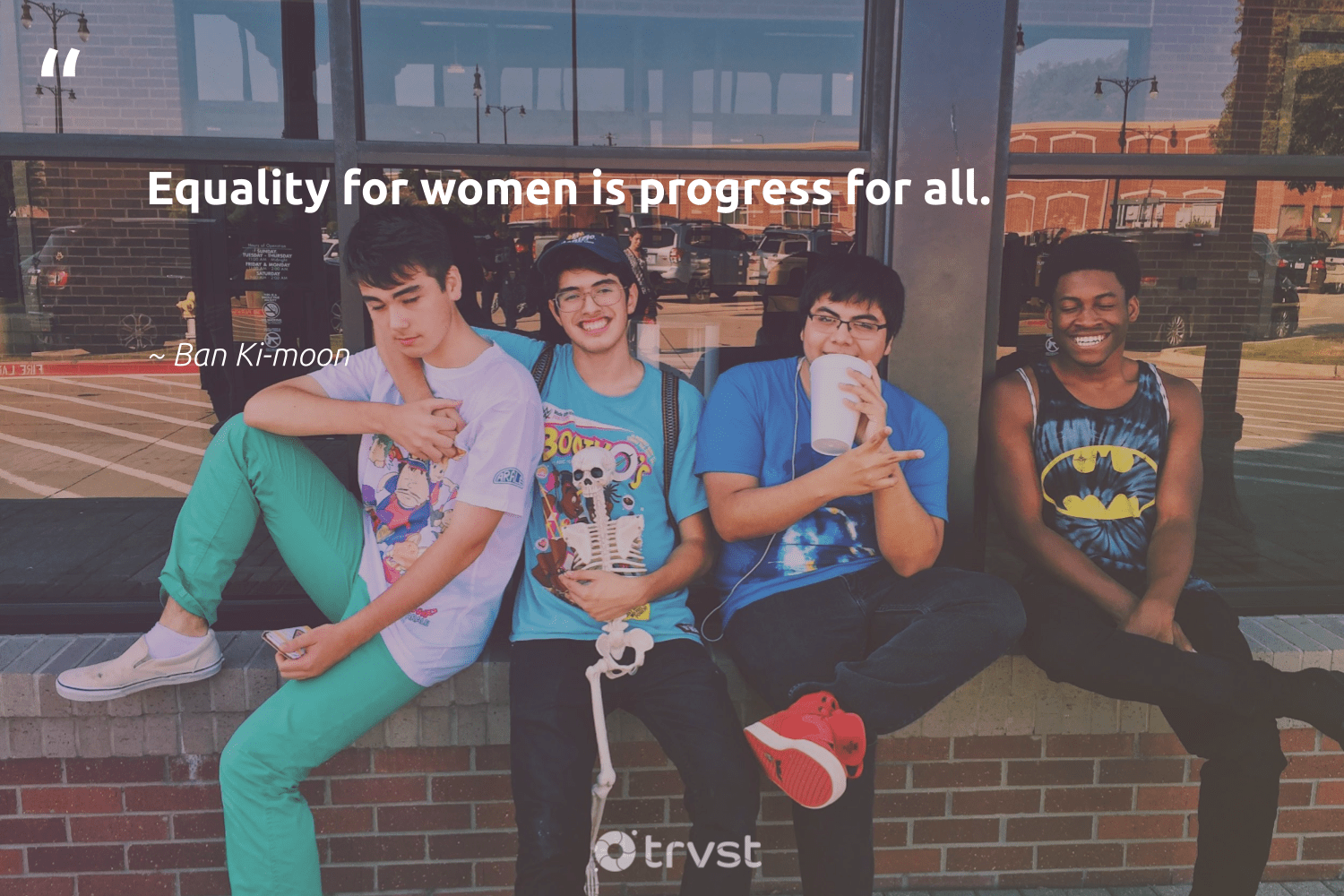 """Equality for women is progress for all.""  - Ban Ki-moon #trvst #quotes #equality #women #equalrights #giveback #makeadifference #planetearthfirst #equalopportunity #socialchange #bethechange #takeaction"