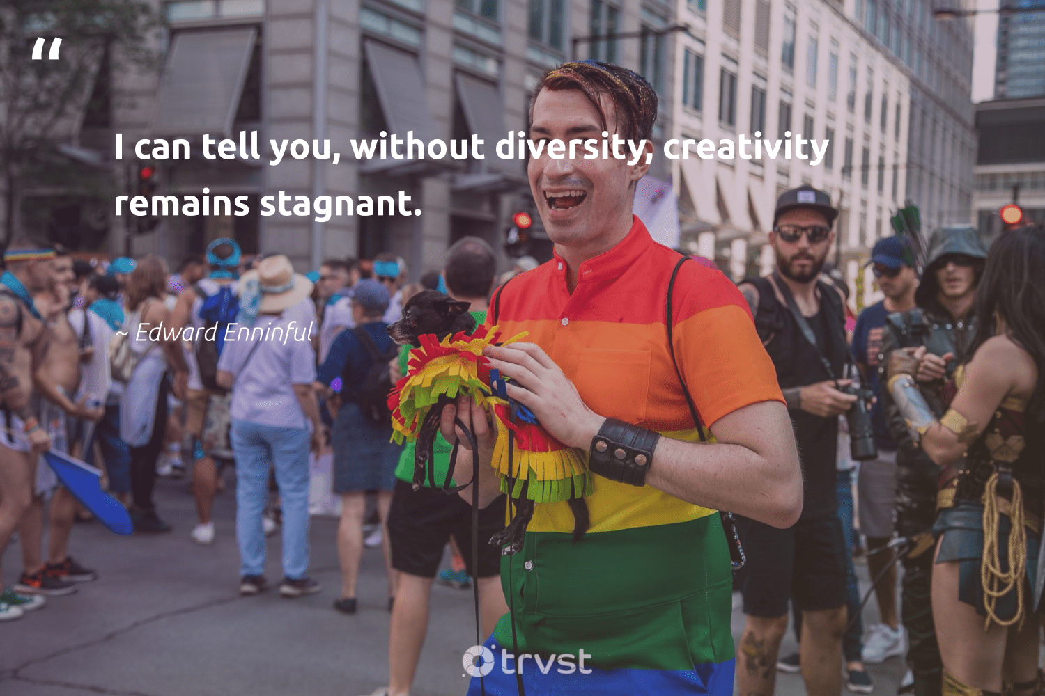 """I can tell you, without diversity, creativity remains stagnant.""  - Edward Enninful #trvst #quotes #diversity #creativity #discrimination #representationmatters #socialchange #bethechange #thinkgreen #inclusion #weareallone #socialgood"