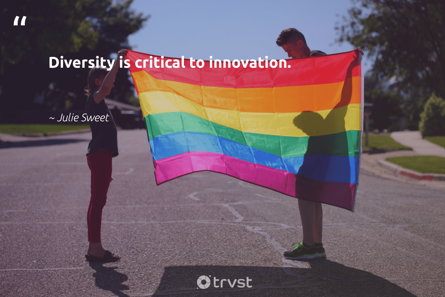 """Diversity is critical to innovation.""  - Julie Sweet #trvst #quotes #diversity #discrimination #representationmatters #socialchange #giveback #impact #inclusion #makeadifference #weareallone #dosomething"