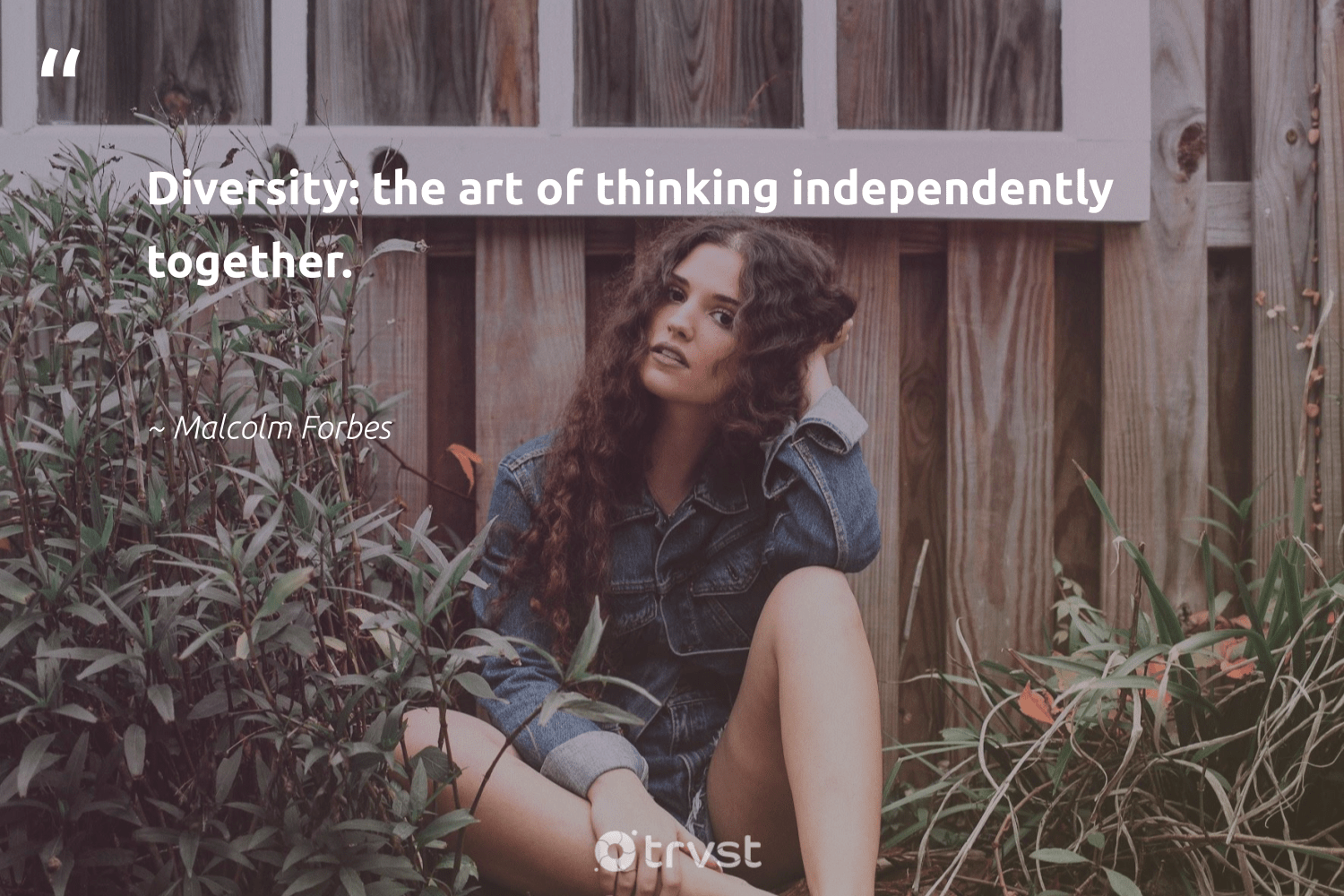 """Diversity: the art of thinking independently together.""  - Malcolm Forbes #trvst #quotes #socialgood #thinkgreen #weareallone #dogood #giveback #socialimpact #bethechange #planetearthfirst #makeadifference #beinspired"
