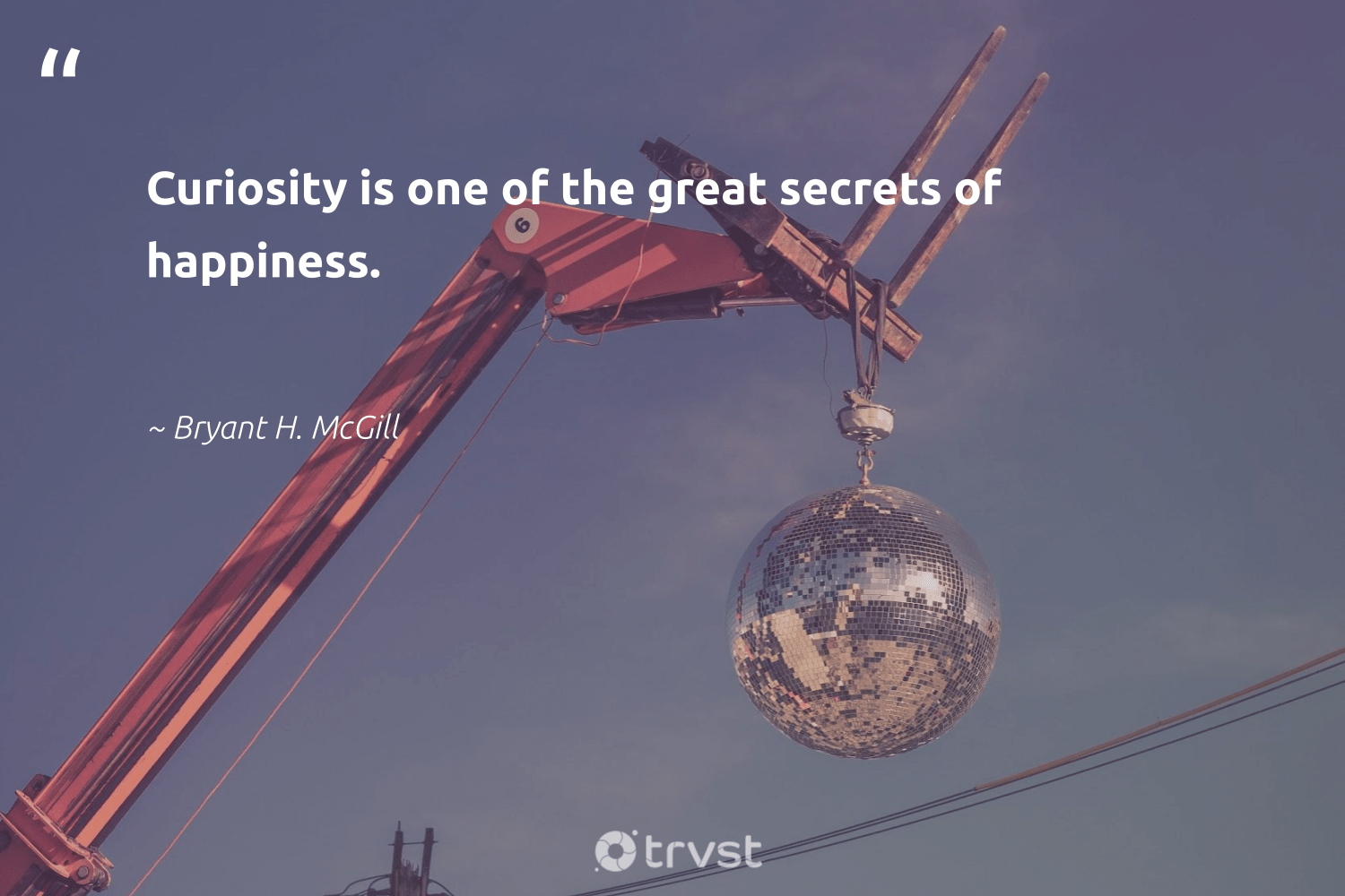 """""""Curiosity is one of the great secrets of happiness.""""  - Bryant H. McGill #trvst #quotes #happiness #health #bethechange #nevergiveup #dogood #begreat #gogreen #changemakers #beinspired #mindset"""