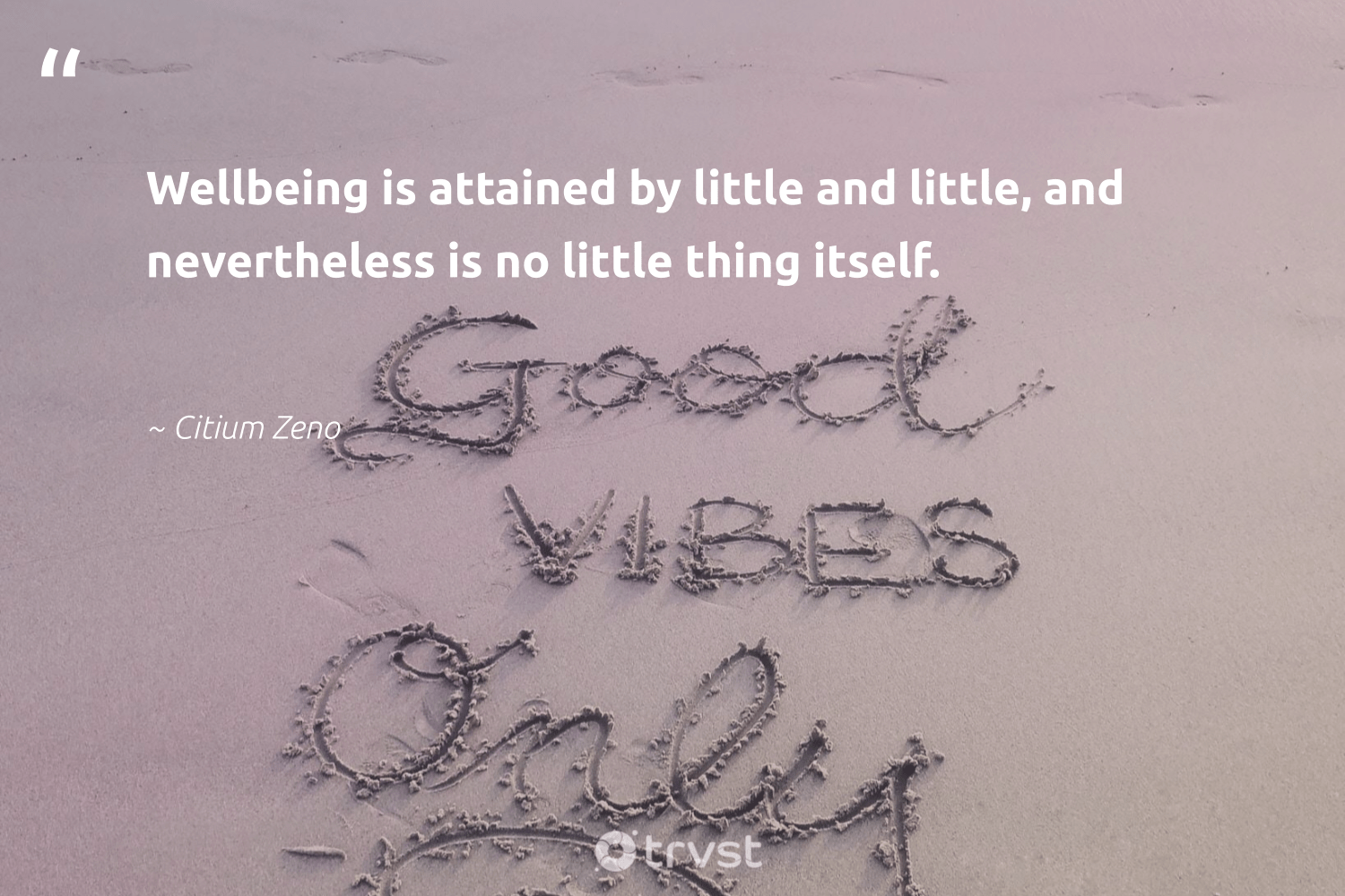 """Wellbeing is attained by little and little, and nevertheless is no little thing itself.""  - Citium Zeno #trvst #quotes #wellbeing #healthyliving #changemakers #togetherwecan #takeaction #healthylife #begreat #mindset #beinspired #healthy"