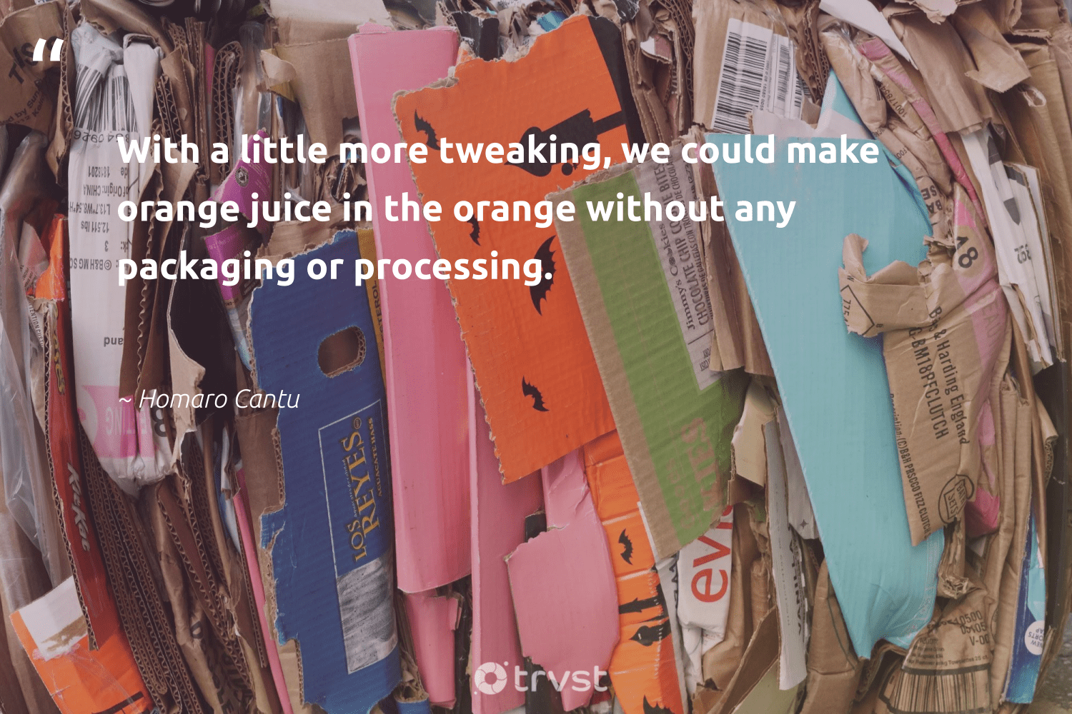 """""""With a little more tweaking, we could make orange juice in the orange without any packaging or processing.""""  - Homaro Cantu #trvst #quotes #wastefree #collectiveaction #noplanetb #thinkgreen #dosomething #ecoconscious #changeahabit #dotherightthing #dogood #gogreen"""