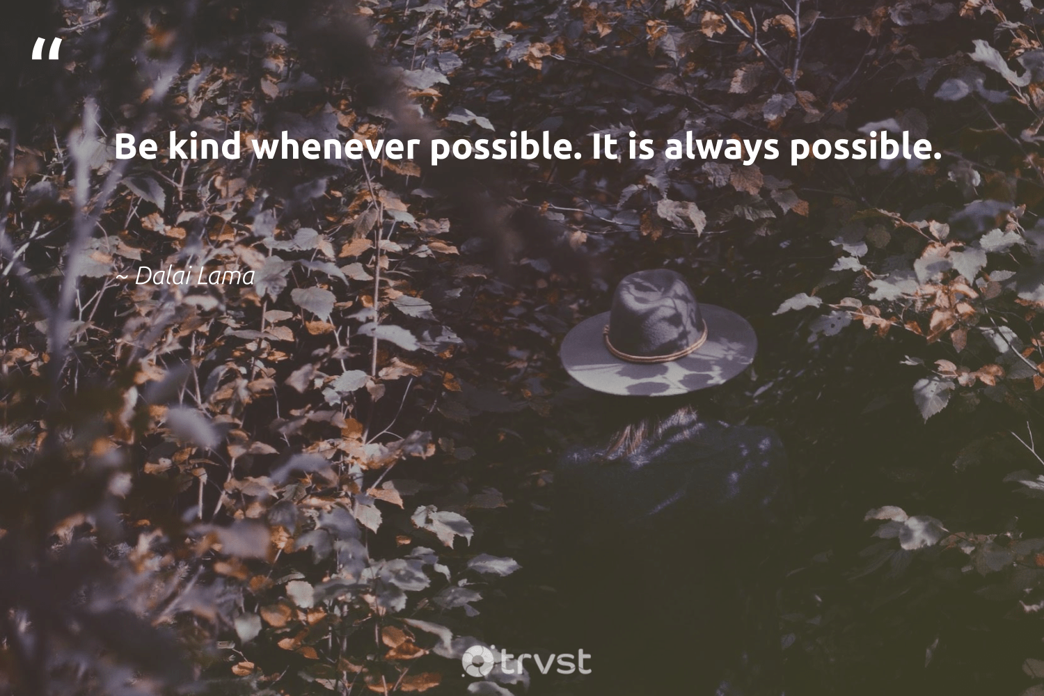 """Be kind whenever possible. It is always possible.""  - Dalai Lama #trvst #quotes #begreat #takeaction #nevergiveup #dosomething #futureofwork #collectiveaction #softskills #impact #beinspired #dogood"