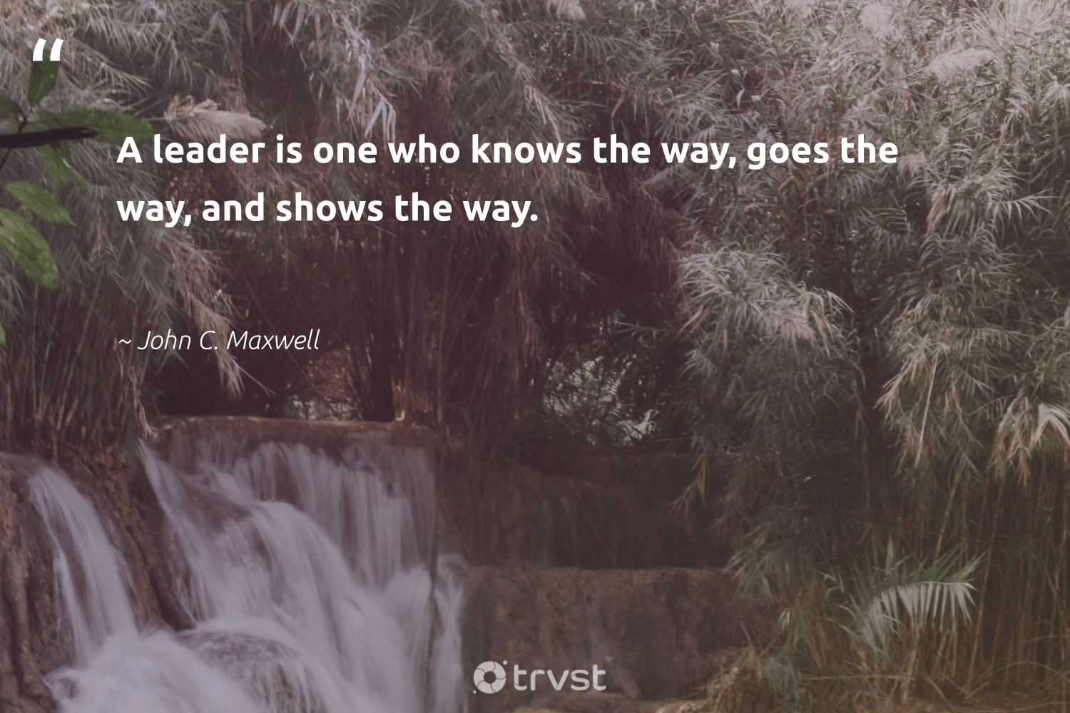 """A leader is one who knows the way, goes the way, and shows the way.""  - John C. Maxwell #trvst #quotes #nevergiveup #dotherightthing #begreat #changetheworld #softskills #beinspired #futureofwork #gogreen #ecoconscious #bethechange"