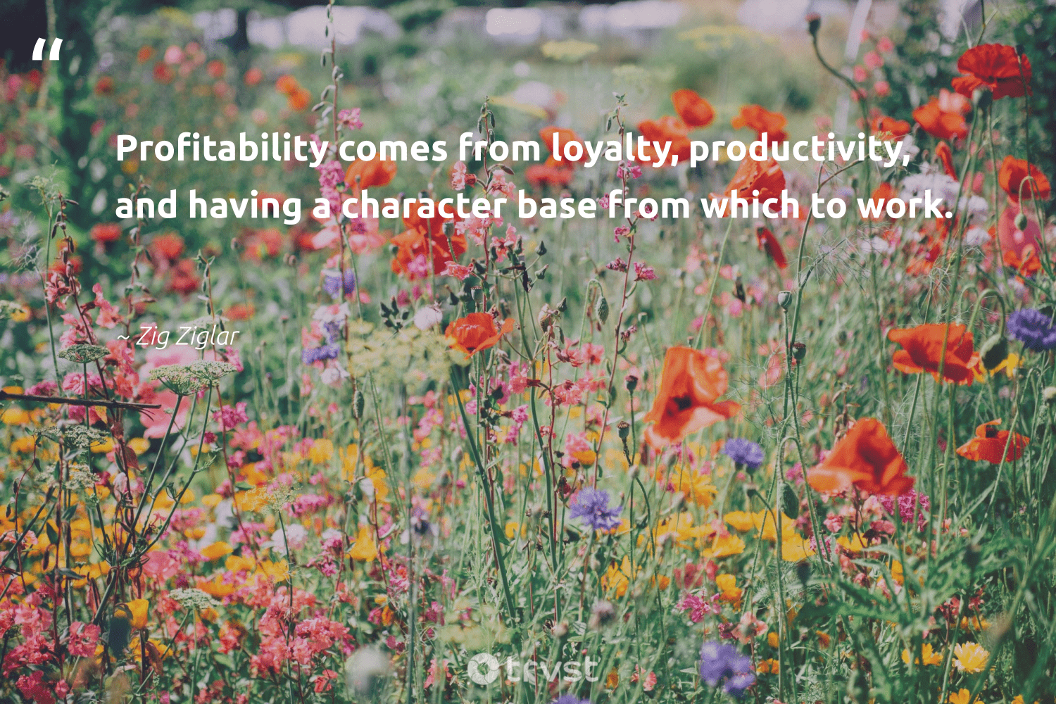 """""""Profitability comes from loyalty, productivity, and having a character base from which to work.""""  - Zig Ziglar #trvst #quotes #productivity #timemanagement #grow #futureofwork #beinspired #motivational #develop #nevergiveup #planetearthfirst #focus"""