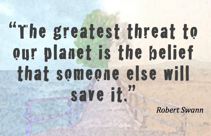 climate change robert swann quote image trvst
