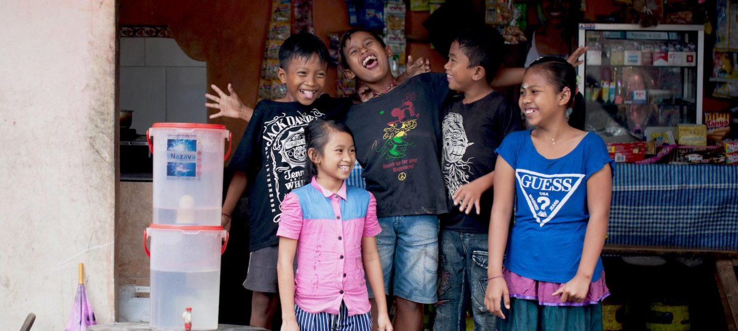 Water filters providing clean water in Indonesia