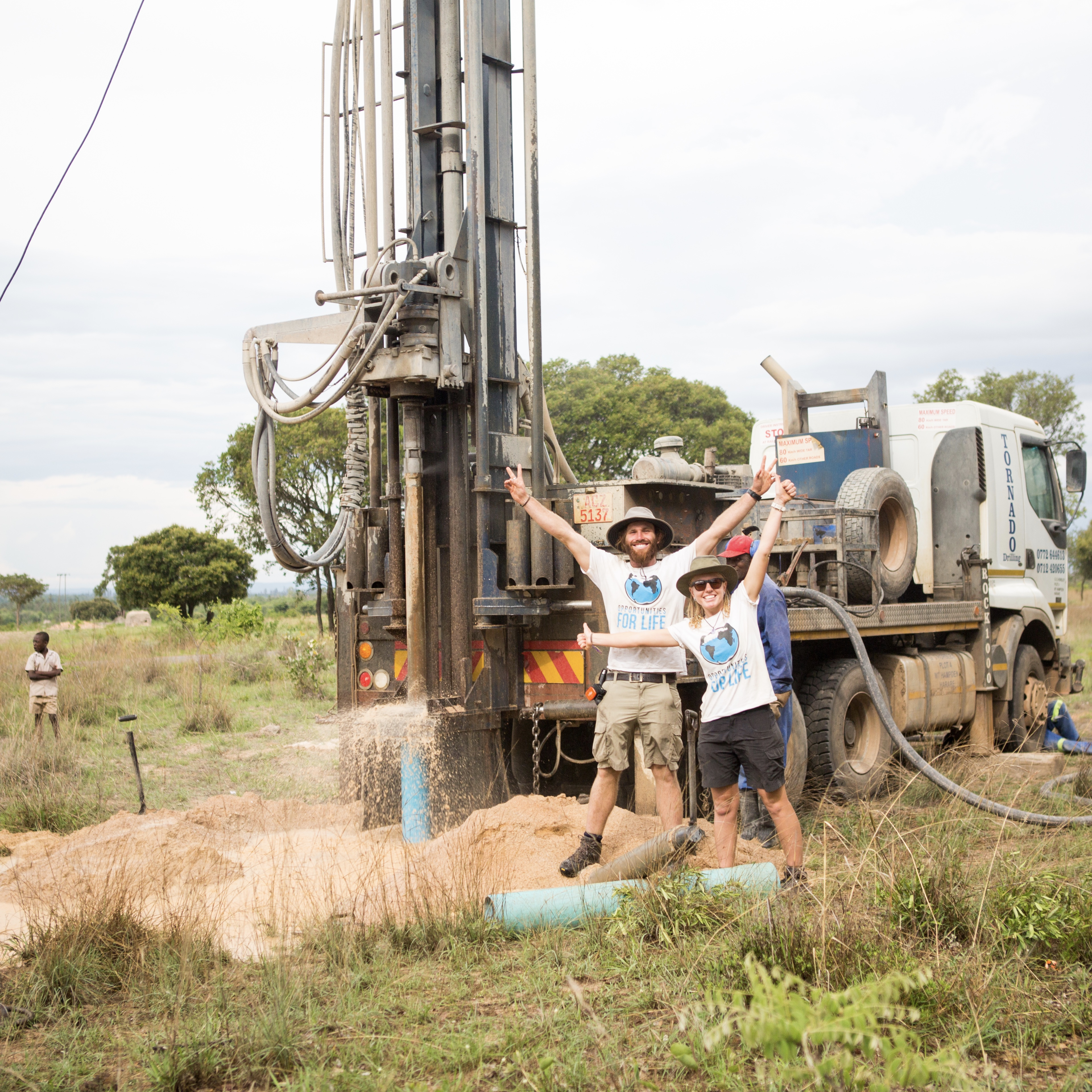 Water bore drilling in Africa