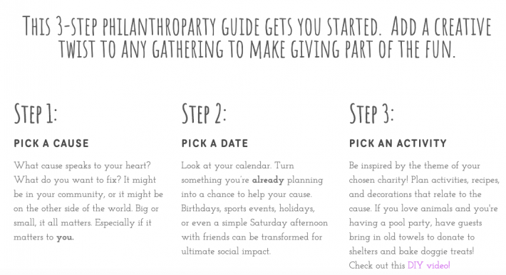 Gen Z's 3 step guide to hosting a philanthroparty
