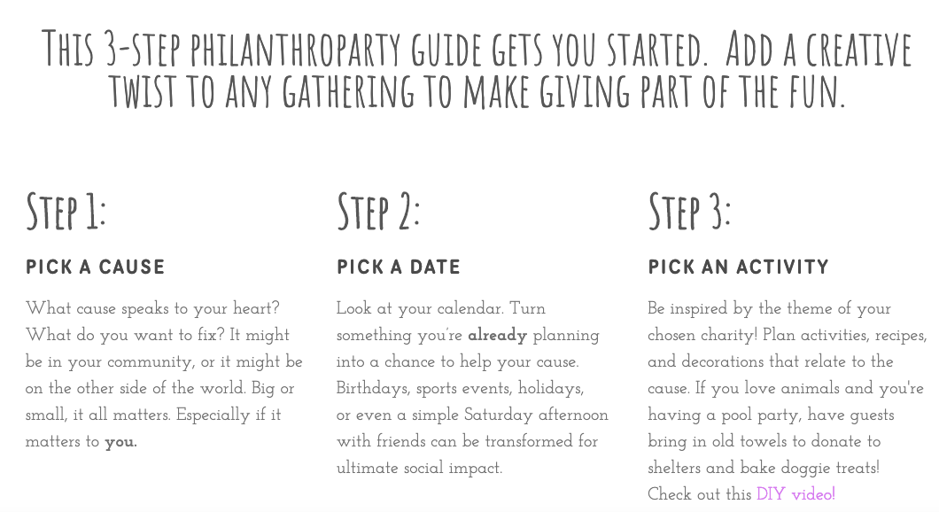 3 step guide to hosting a philanthroparty