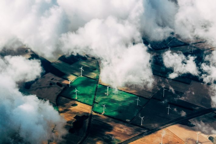 Green Energy Wind Turbines From the Sky