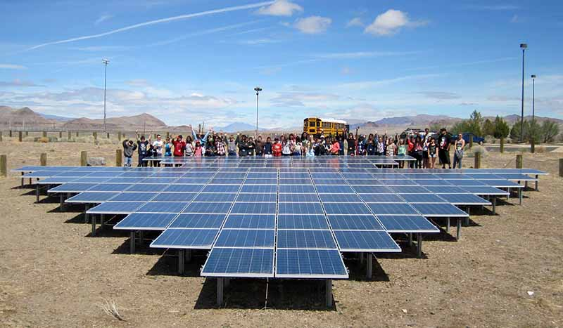 Teaching kids renewable energy plant visit