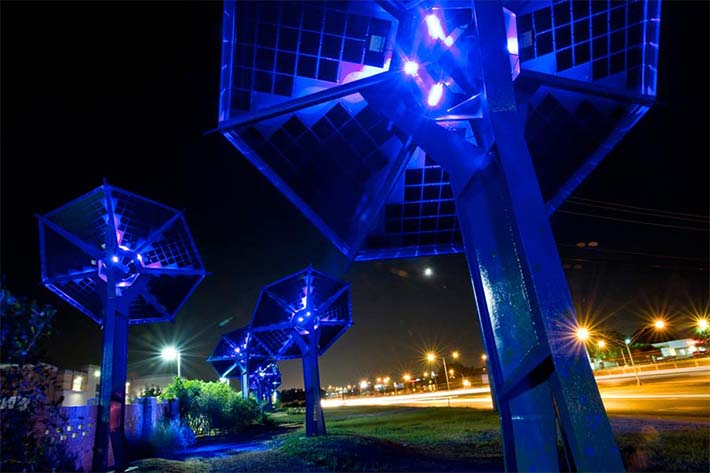 Sun Flowers Solar Garden Renewable Energy Sculpture
