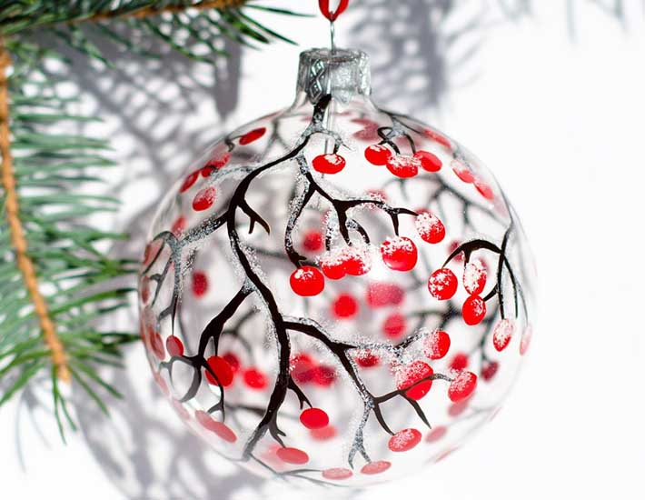 Glass Christmas baubles