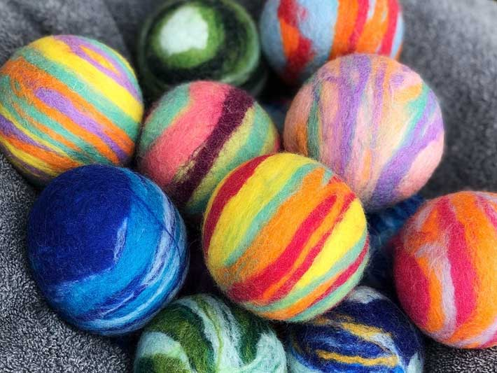 Rainbow Wool Dryer Balls