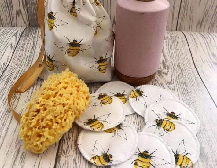 Plastic free reusable cotton pads