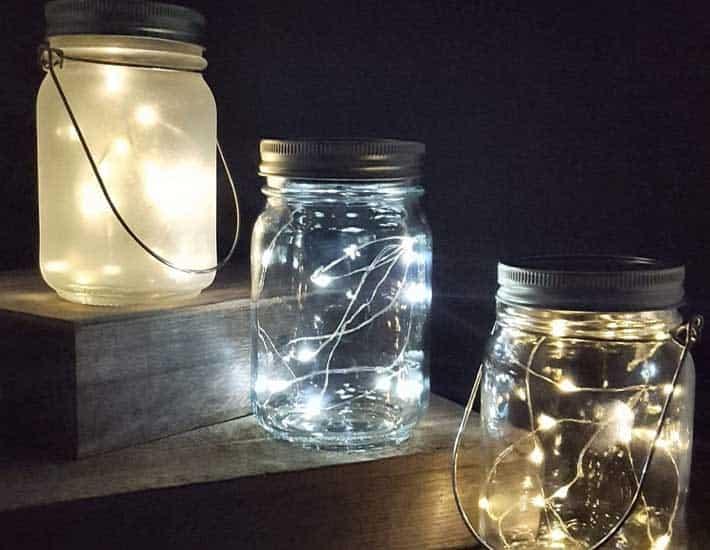 Solar powered mason jar lights plastic-free gift