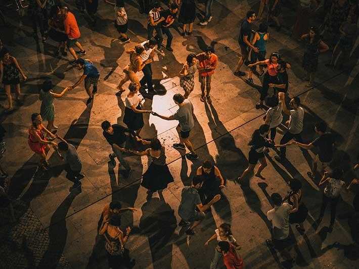 Groups Dancing