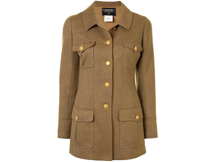 Chanel 1996 Cutaway Collar Coat