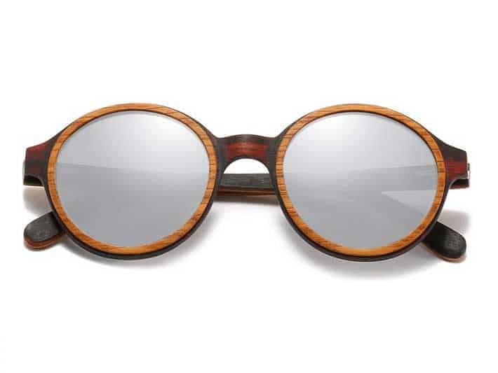 Simple Wood Round Sunglasses