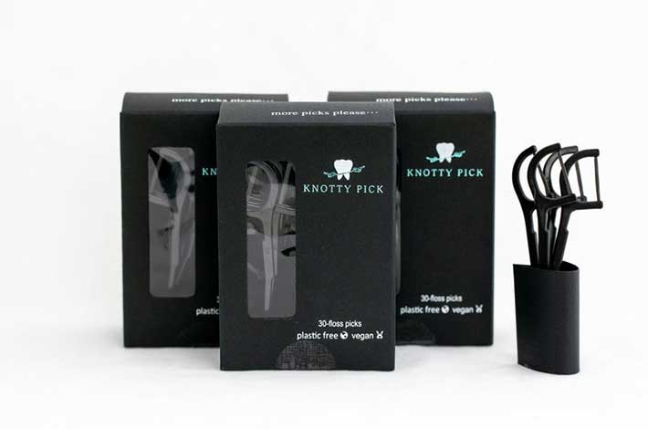 Knotty Biodegrdable Eco Friendly Floss Pick