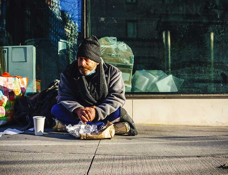Homelessness causes a range of issues - fact.
