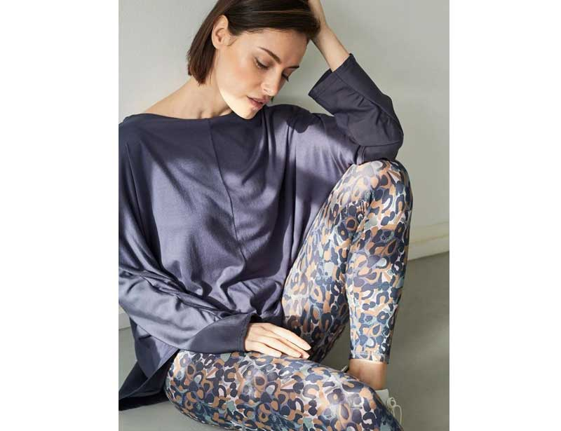 Thought clothing sustainable fashion brand bamboo printed leggings